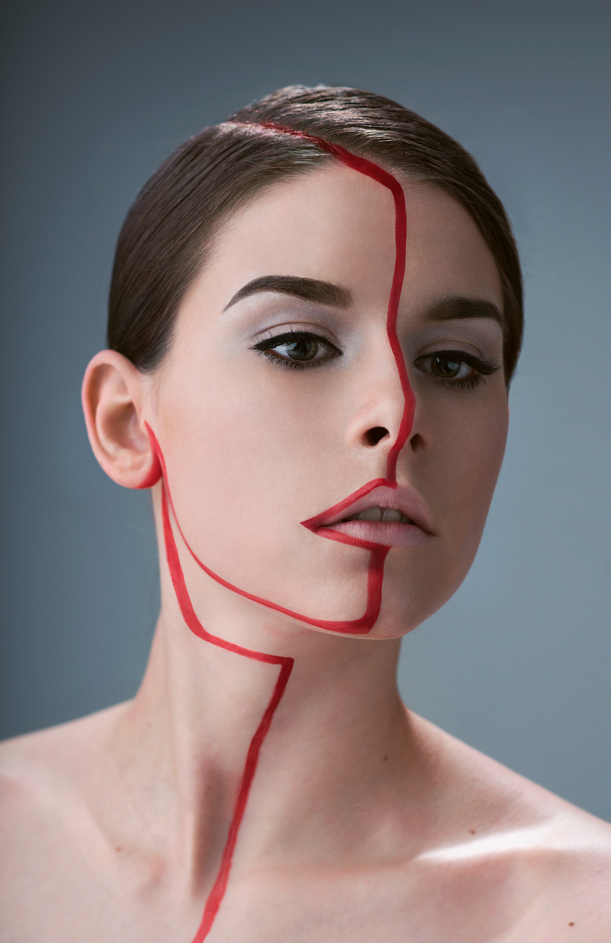 Make-up Lookbook; Red Line