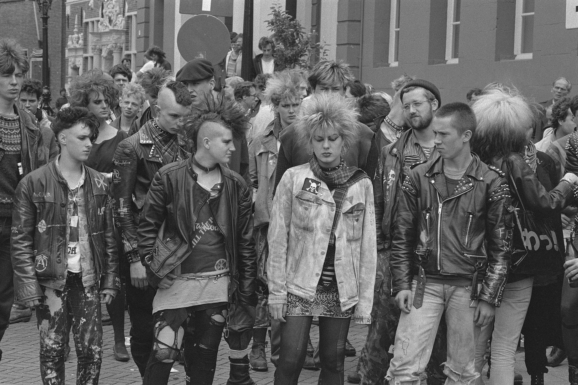 Punks black and white photo